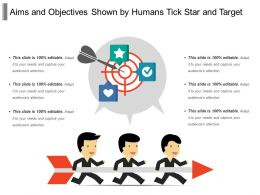 Aims And Objectives Shown By Humans Tick Star And Target