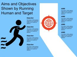 Aims And Objectives Shown By Running Human And Target