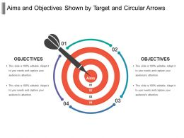 Aims And Objectives Shown By Target And Circular Arrows