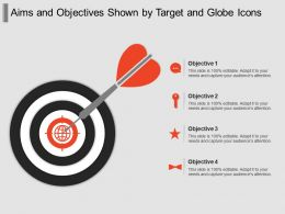 Aims And Objectives Shown By Target And Globe Icons