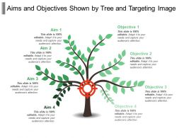 Aims And Objectives Shown By Tree And Targeting Image