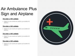 Air Ambulance Plus Sign And Airplane