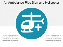 Air Ambulance Plus Sign And Helicopter