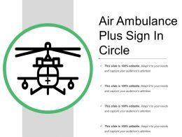 Air Ambulance Plus Sign In Circle