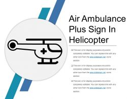Air Ambulance Plus Sign In Helicopter