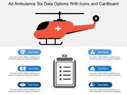 Air Ambulance Six Data Options With Icons And Cardboard