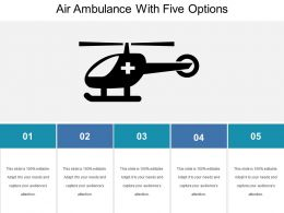 Air Ambulance With Five Options