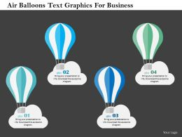 Air Balloons Text Graphics For Business Flat Powerpoint Design