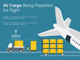 Air Cargo Being Prepared For Flight