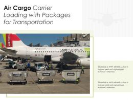 Air Cargo Carrier Loading With Packages For Transportation