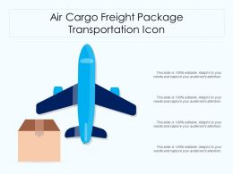 Air Cargo Freight Package Transportation Icon