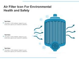 Air Filter Icon For Environmental Health And Safety
