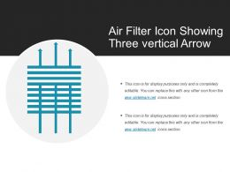 Air Filter Icon Showing Three Vertical Arrow