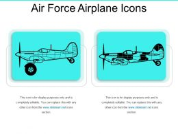 Air Force Airplane Icons