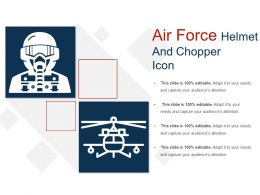 Air Force Helmet And Chopper Icon