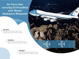 Air Force One Carrying US President Over Mount Rushmore Memorial