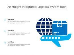 Air Freight Integrated Logistics System Icon