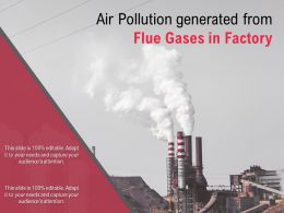 Air Pollution Generated From Flue Gases In Factory