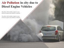 Air Pollution In City Due To Diesel Engine Vehicles