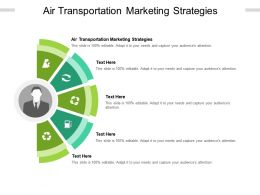 Air Transportation Marketing Strategies Ppt Powerpoint Presentation Portfolio Slide Download Cpb
