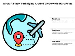 Aircraft Flight Path Flying Around Globe With Start Point