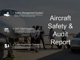 Aircraft Safety And Audit Report Powerpoint Layout
