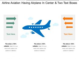 Airline Aviation Having Airplane In Center And Two Text Boxes