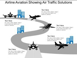 Airline Aviation Showing Air Traffic Solutions