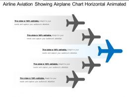 Airline Aviation Showing Airplane Chart Horizontal Animated