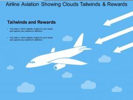 Airline Aviation Showing Clouds Tailwinds And Rewards