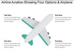 Airline Aviation Showing Four Options And Airplane