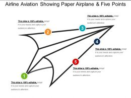 Airline Aviation Showing Paper Airplane And Five Points