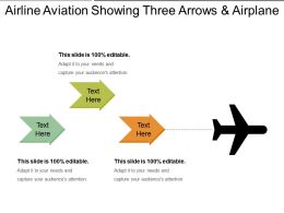 Airline Aviation Showing Three Arrows And Airplane