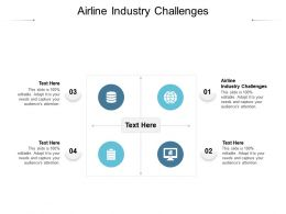 Airline Industry Challenges Ppt Powerpoint Presentation File Clipart Images Cpb