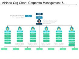 Airlines Org Chart Corporate Management And Communication