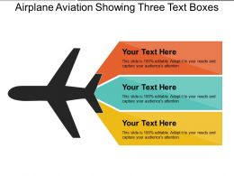 Airplane Aviation Showing Three Text Boxes