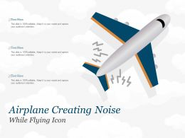 Airplane Creating Noise While Flying Icon