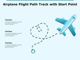 Airplane Flight Path Track With Start Point