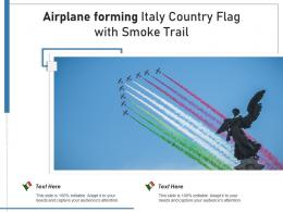 Airplane Forming Italy Country Flag With Smoke Trail