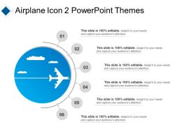 Airplane Icon 2 Powerpoint Themes Ppt Diagrams