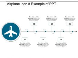 Airplane Icon 8 Example Of Ppt