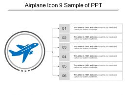Airplane Icon 9 Sample Of Ppt