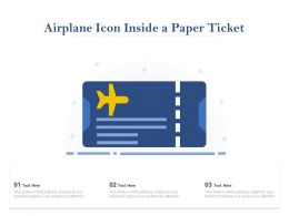 Airplane Icon Inside A Paper Ticket