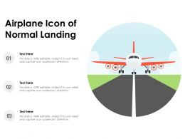 Airplane Icon Of Normal Landing