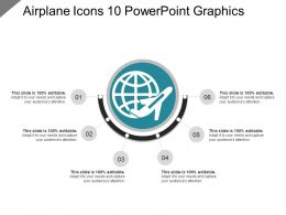 Airplane Icons 10 Powerpoint Graphics