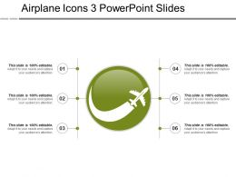 Airplane Icons 3 Powerpoint Slides