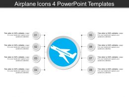Airplane Icons 4 PowerPoint Templates
