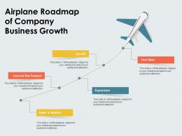 Airplane Roadmap Of Company Business Growth