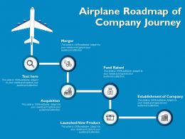 Airplane Roadmap Of Company Journey