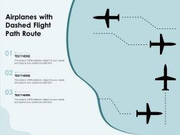 Airplanes With Dashed Flight Path Route